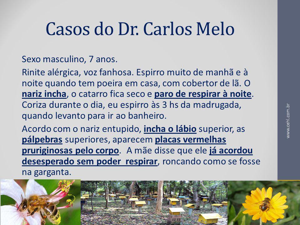Casos do Dr. Carlos Melo Sexo masculino, 7 anos.