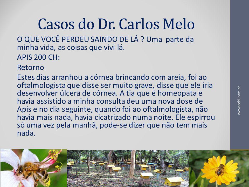 Casos do Dr. Carlos Melo O QUE VOCÊ PERDEU SAINDO DE LÁ Uma parte da minha vida, as coisas que vivi lá.