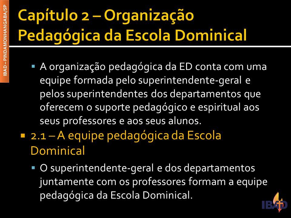 Capítulo 2 – Organização Pedagógica da Escola Dominical