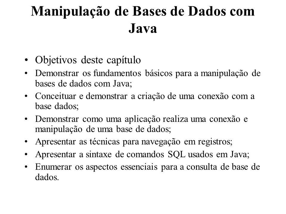 Manipulação de Bases de Dados com Java