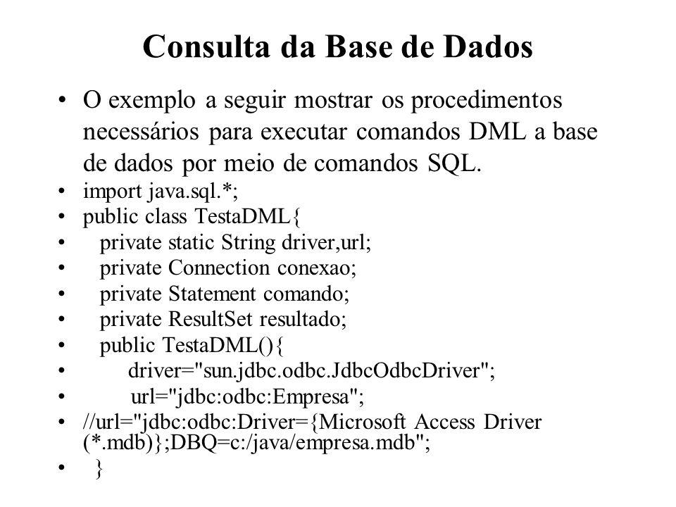 Consulta da Base de Dados