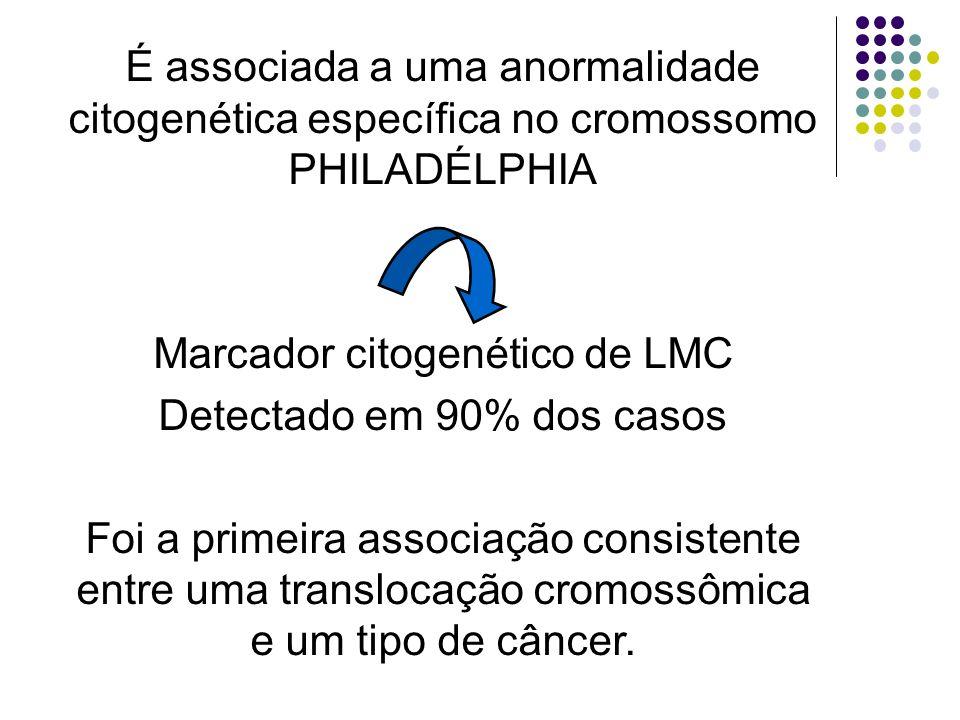 Marcador citogenético de LMC Detectado em 90% dos casos