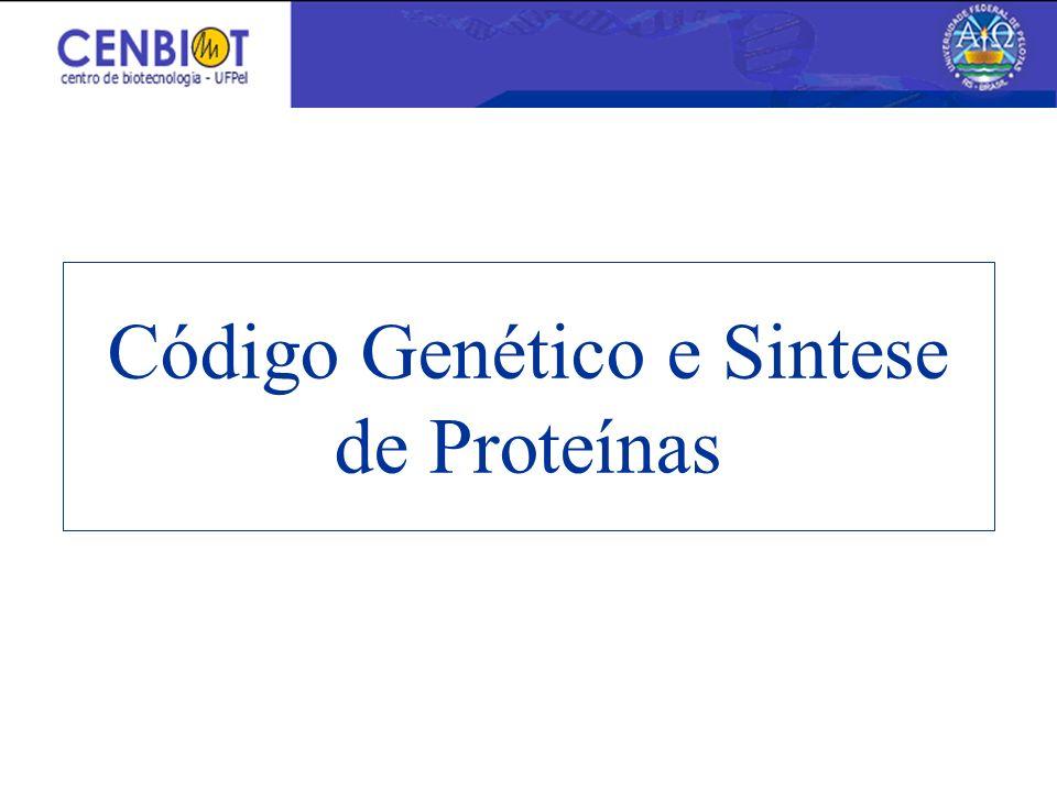 Código Genético e Sintese de Proteínas