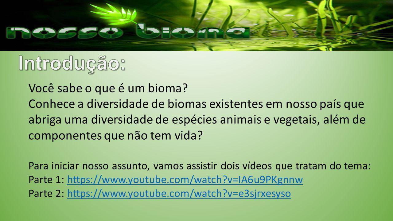 Introdução: Você sabe o que é um bioma