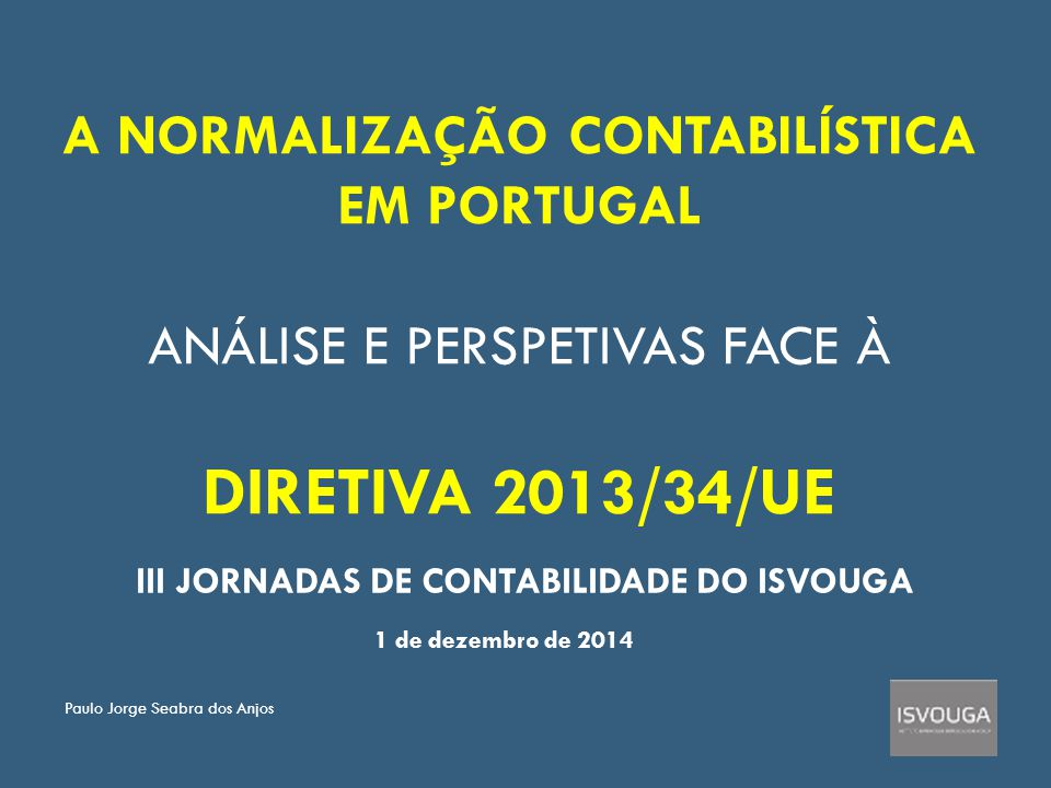 III JORNADAS DE CONTABILIDADE DO ISVOUGA