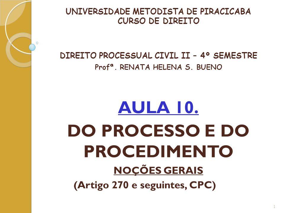 AULA 10. DO PROCESSO E DO PROCEDIMENTO
