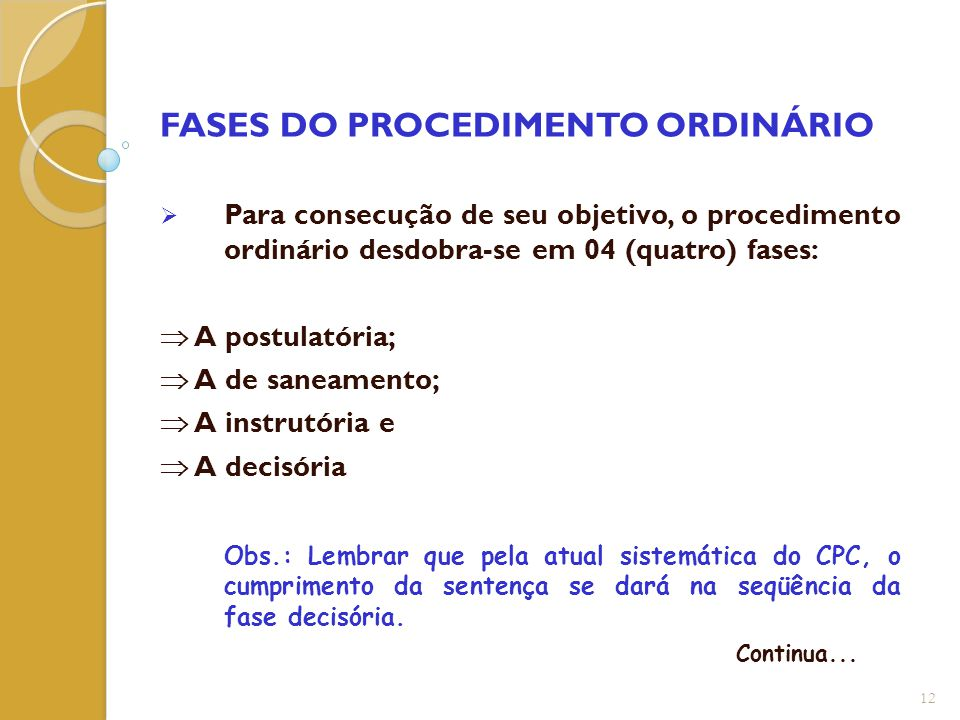 FASES DO PROCEDIMENTO ORDINÁRIO