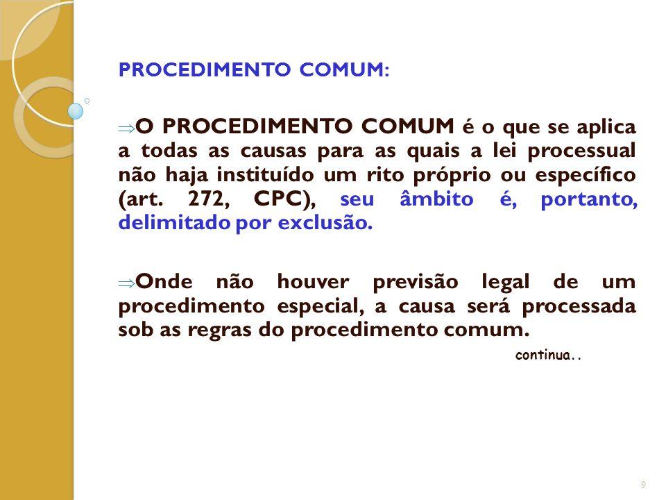 PROCEDIMENTO COMUM:
