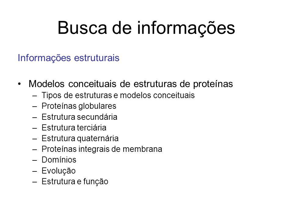 Busca de informações Informações estruturais