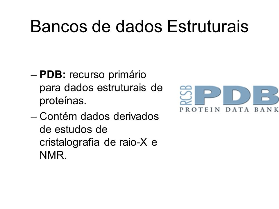 Bancos de dados Estruturais