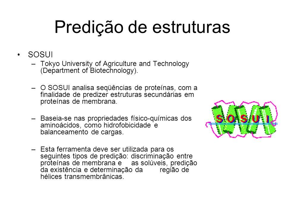 Predição de estruturas
