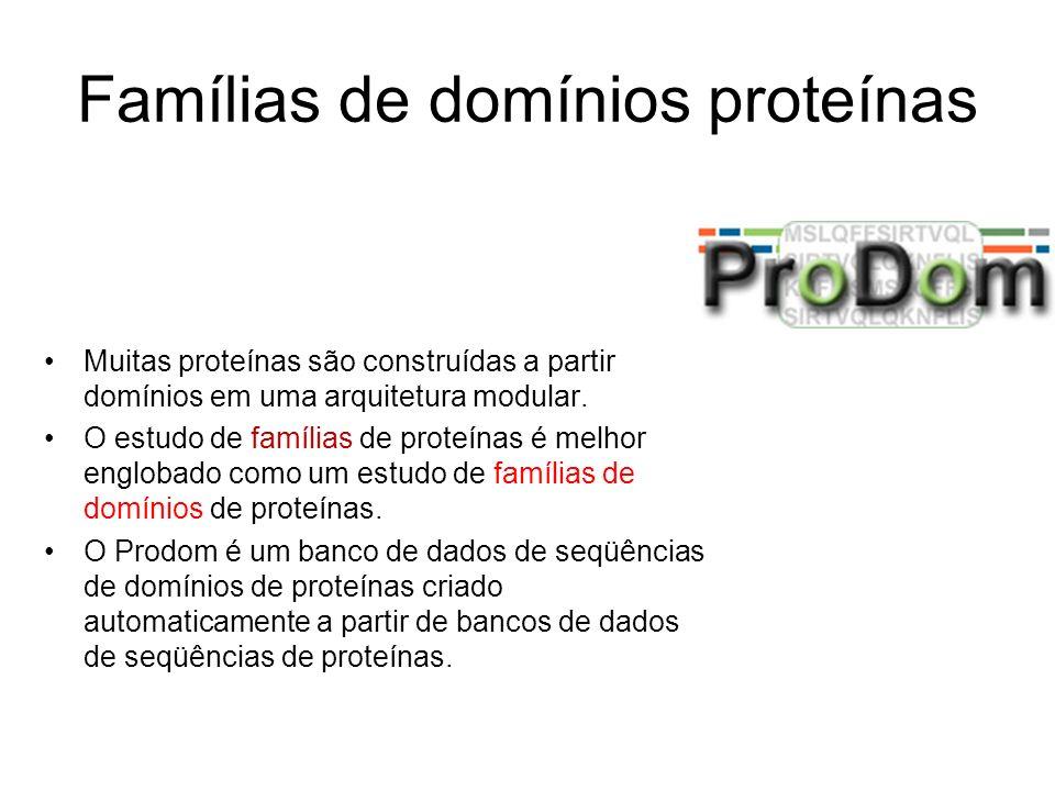 Famílias de domínios proteínas