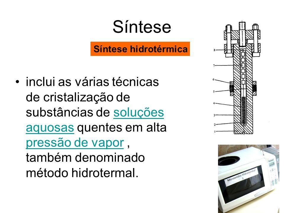 SínteseSíntese hidrotérmica.
