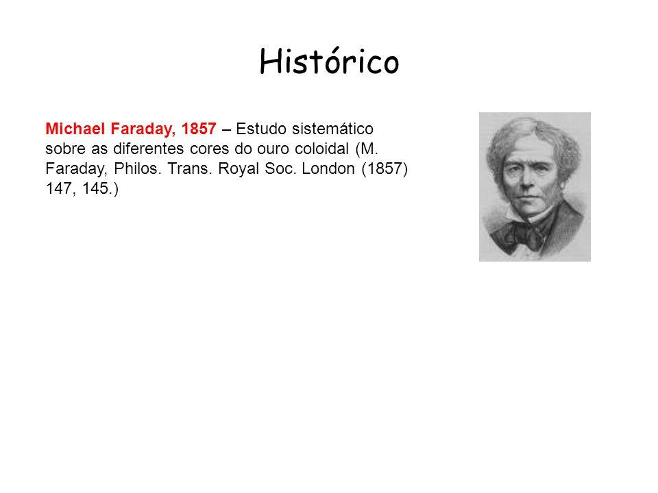 Histórico Michael Faraday, 1857 – Estudo sistemático