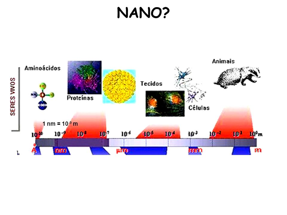 NANO 1 nm = 10-9 m