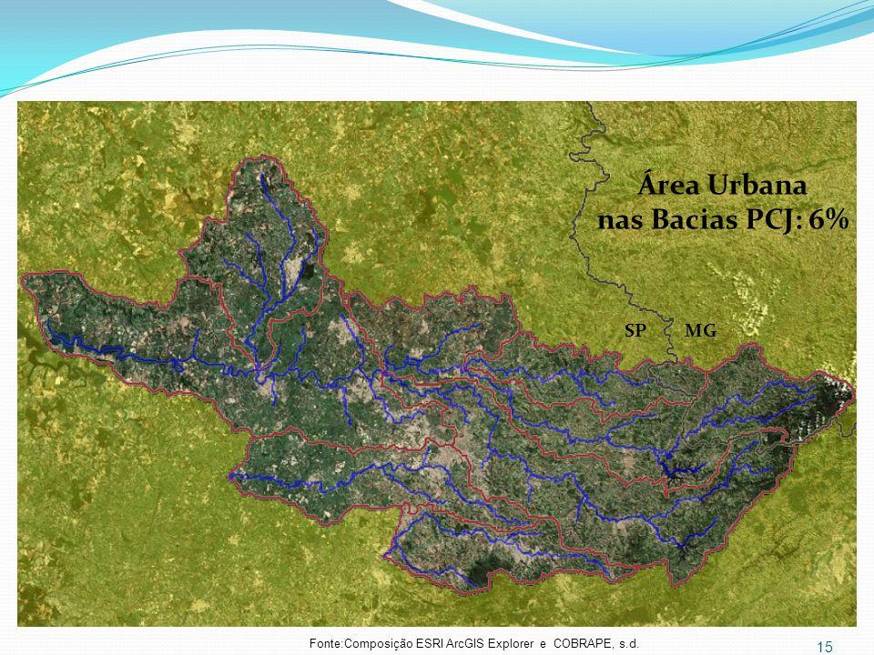 Fonte:Composição ESRI ArcGIS Explorer e COBRAPE, s.d.