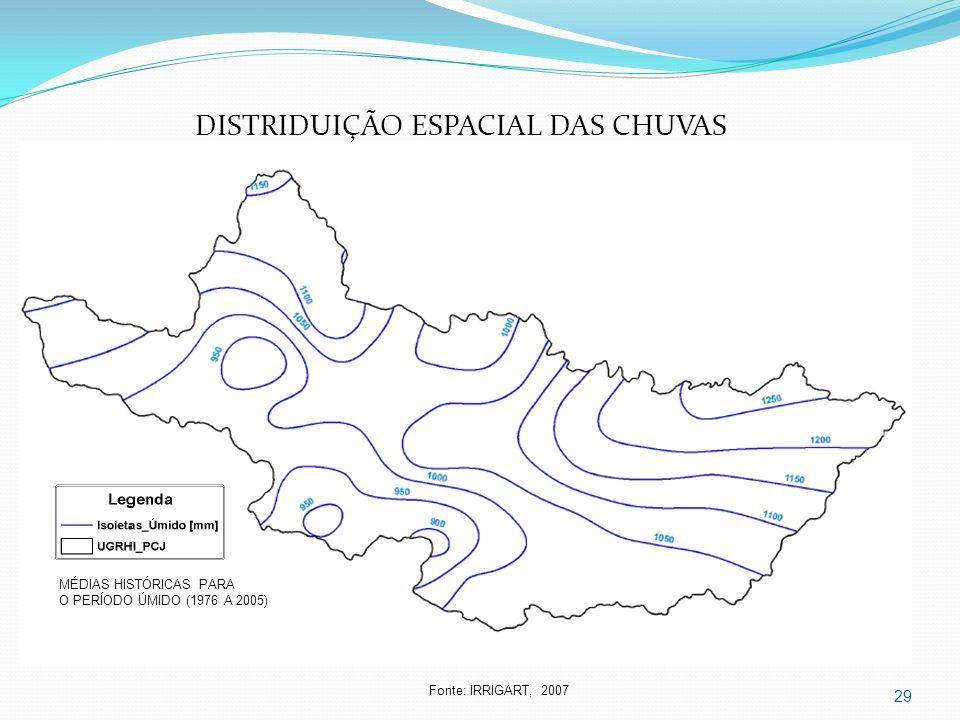 DISTRIDUIÇÃO ESPACIAL DAS CHUVAS