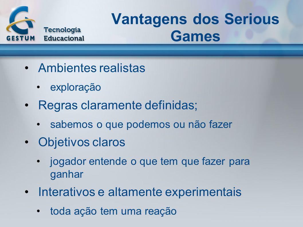 Vantagens dos Serious Games