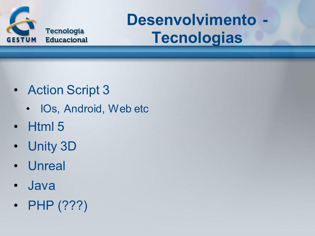 Desenvolvimento - Tecnologias