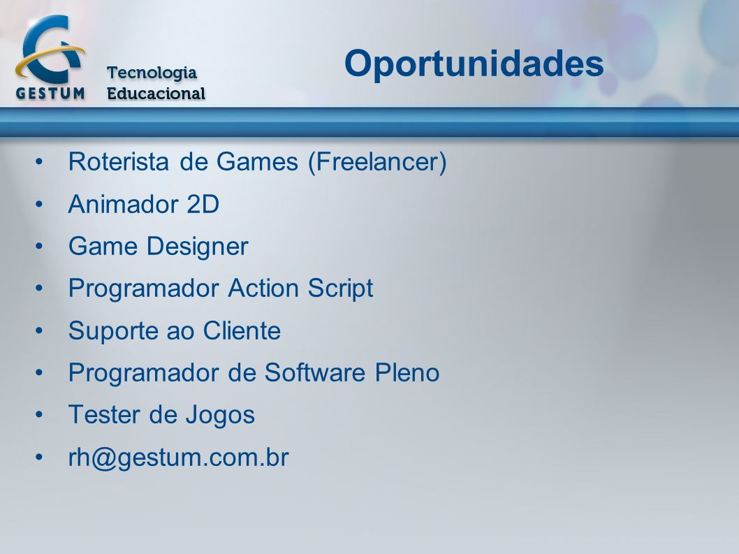 Oportunidades Roterista de Games (Freelancer) Animador 2D