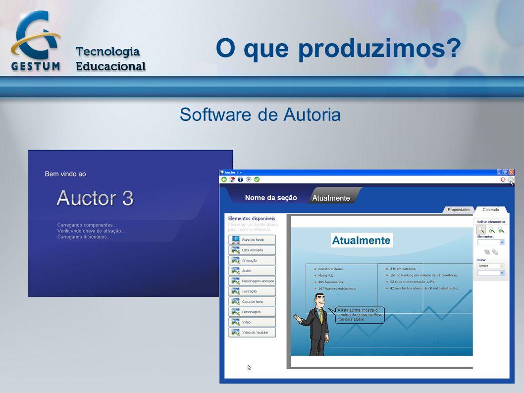 O que produzimos Software de Autoria