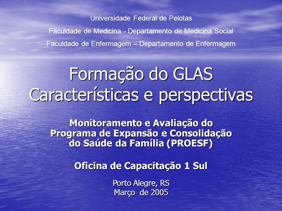 Formação do GLAS Características e perspectivas
