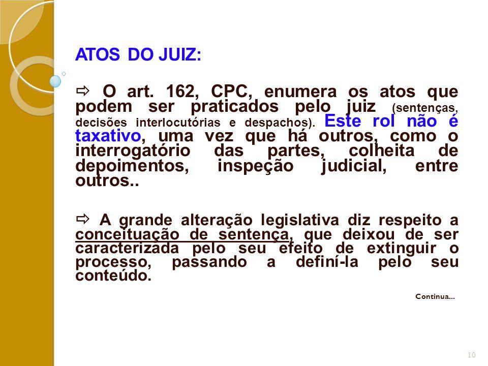 ATOS DO JUIZ: