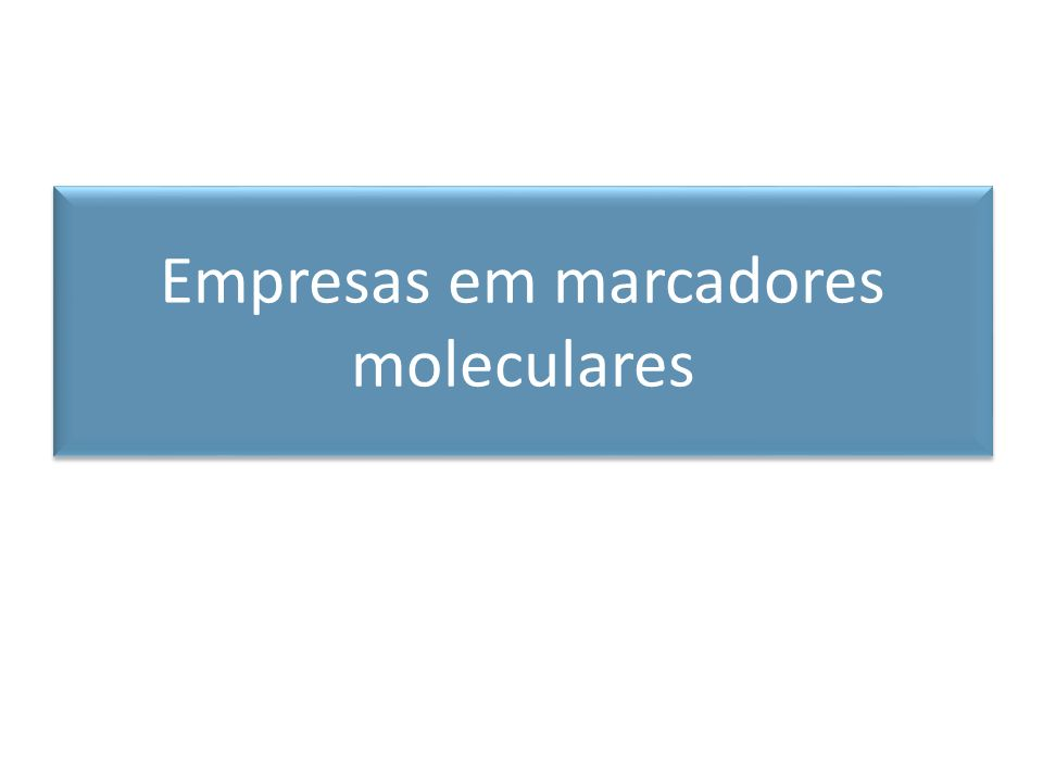 Empresas em marcadores moleculares