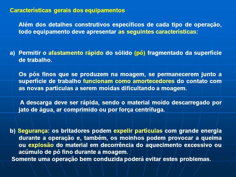 Características gerais dos equipamentos