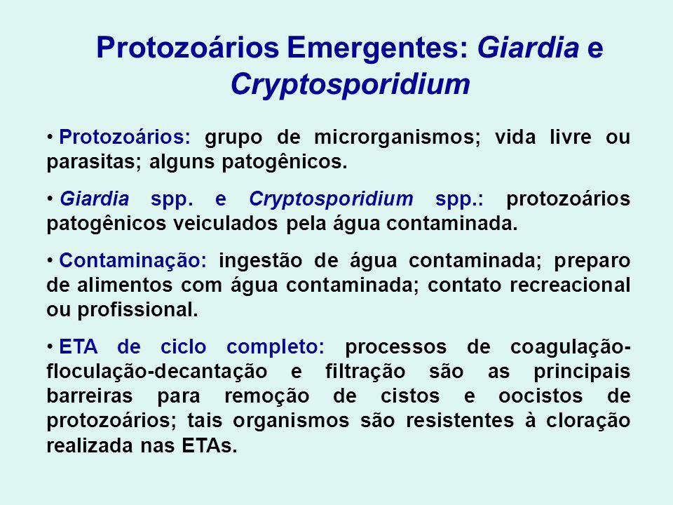 Protozoários Emergentes: Giardia e Cryptosporidium