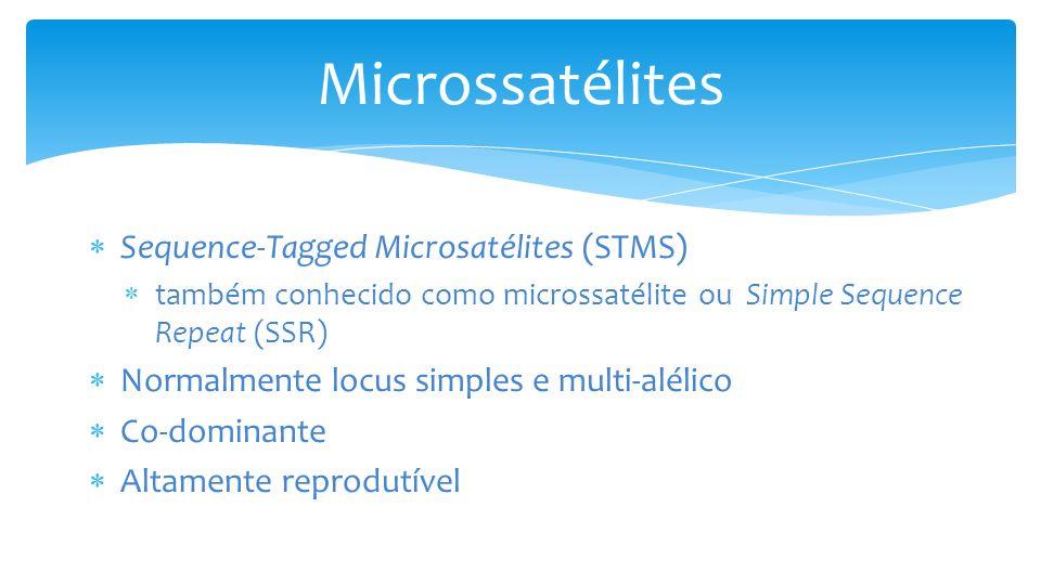 Microssatélites Sequence-Tagged Microsatélites (STMS)