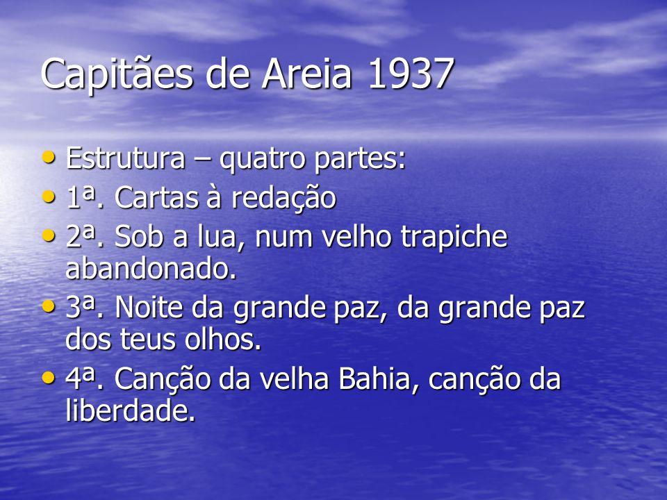 Capitães de Areia 1937 Estrutura – quatro partes: 1ª. Cartas à redação
