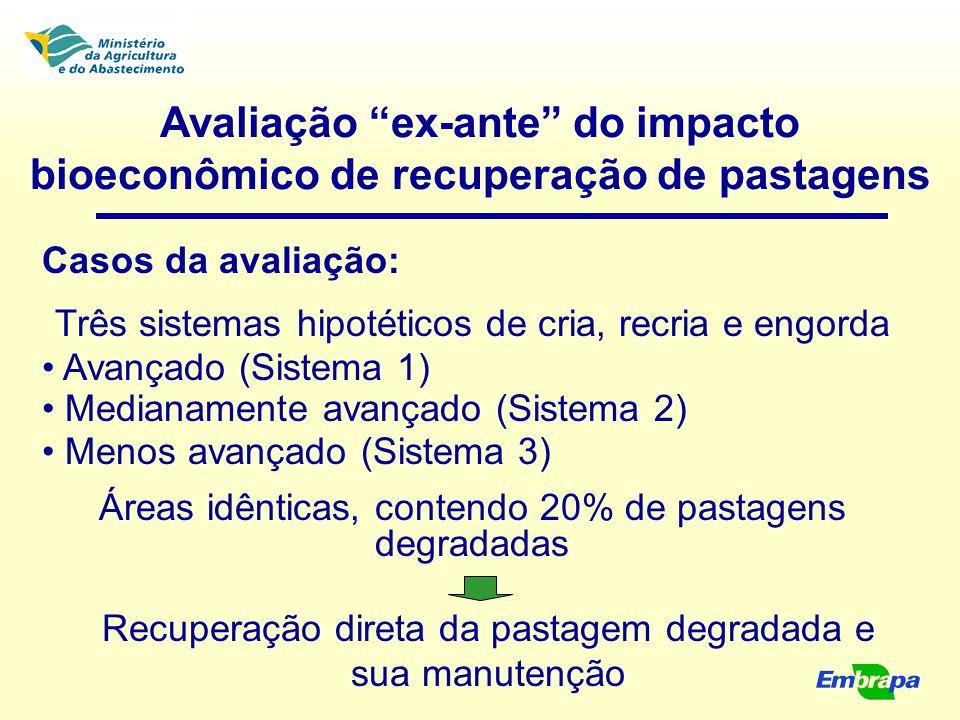 Avaliação ex-ante do impacto bioeconômico de recuperação de pastagens