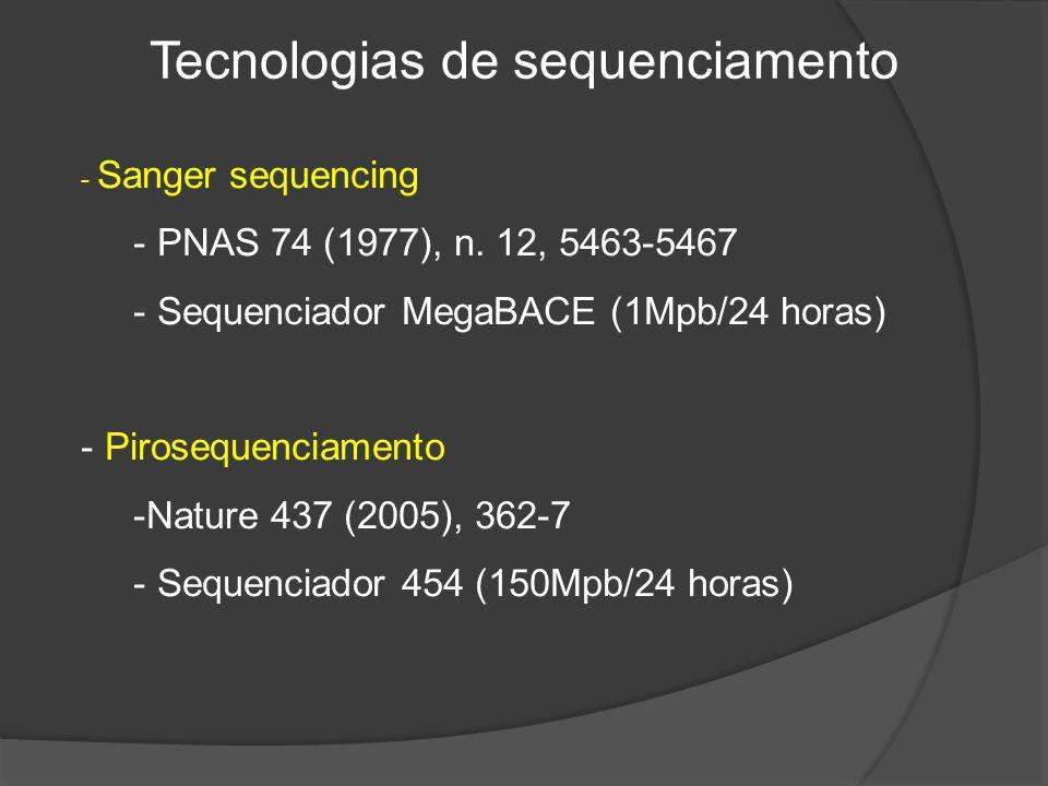 Tecnologias de sequenciamento