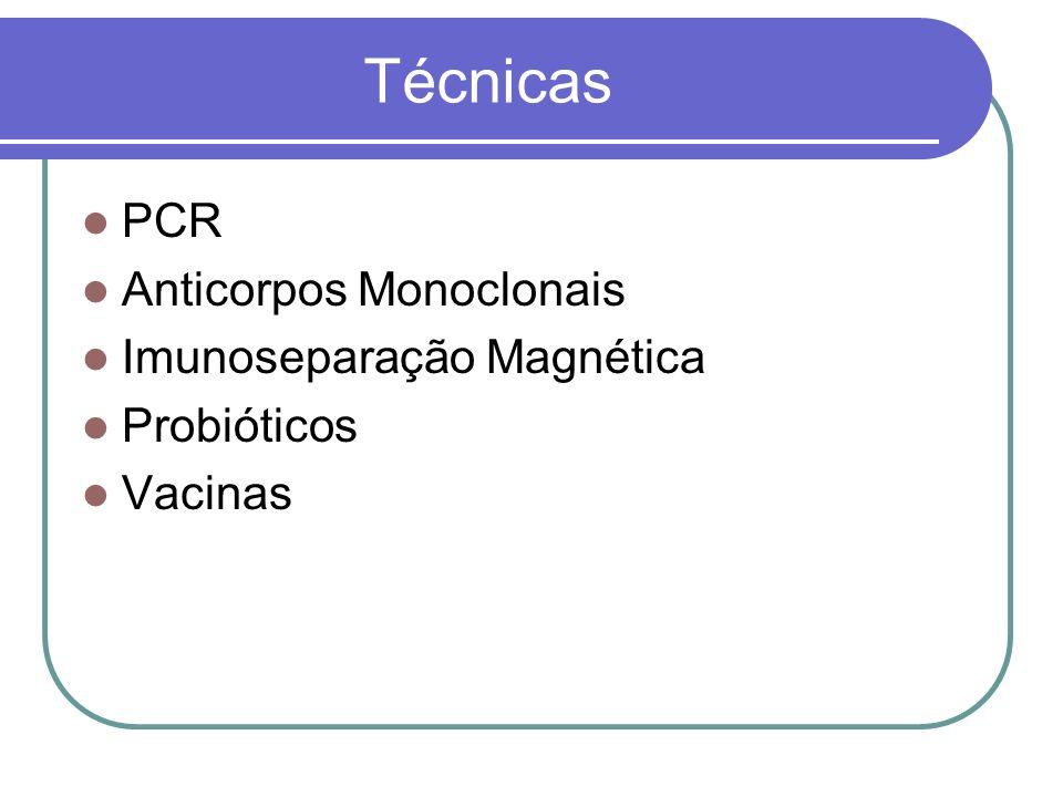 Técnicas PCR Anticorpos Monoclonais Imunoseparação Magnética
