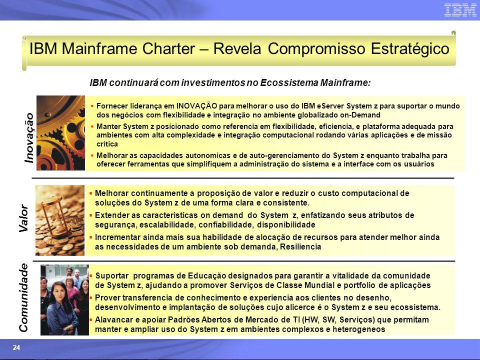 IBM Mainframe Charter – Revela Compromisso Estratégico