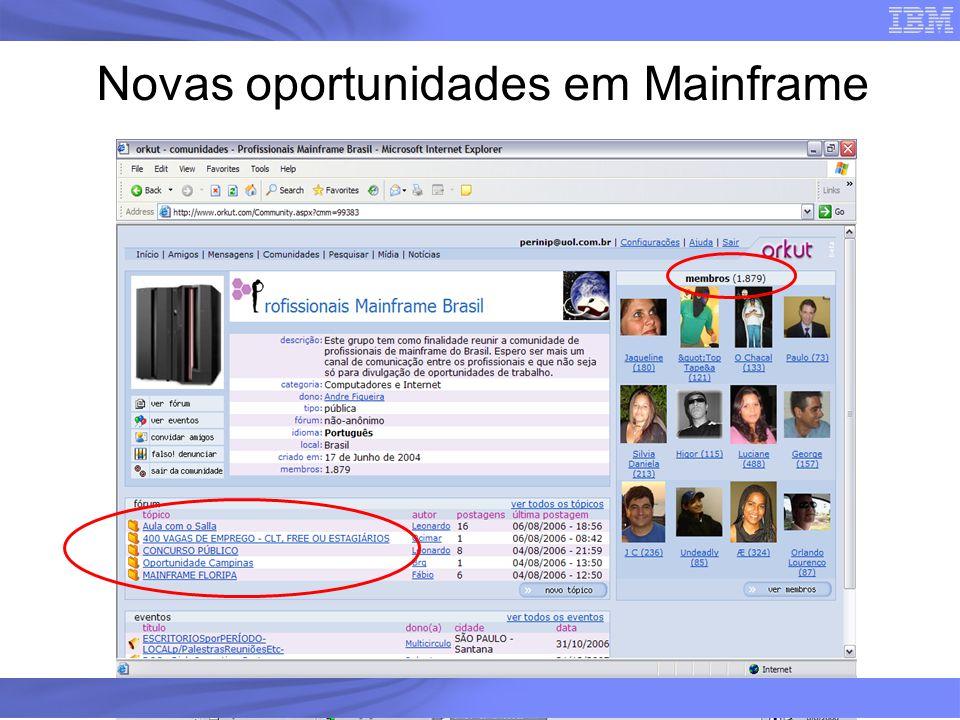 Novas oportunidades em Mainframe