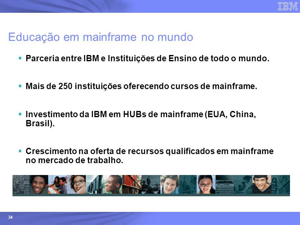 Educação em mainframe no mundo