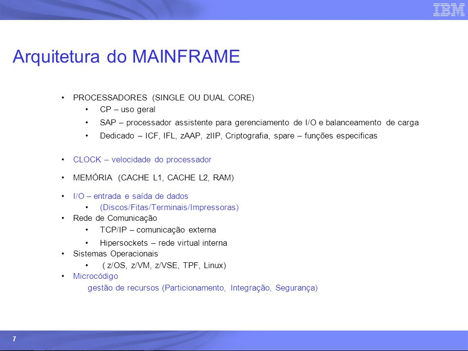 Arquitetura do MAINFRAME