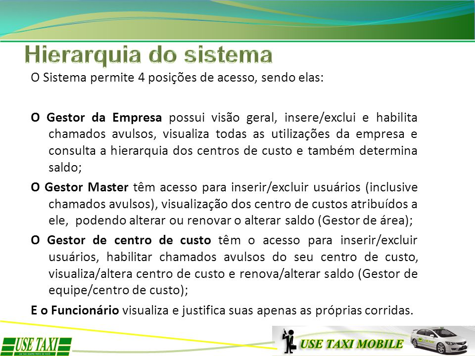 Hierarquia do sistema