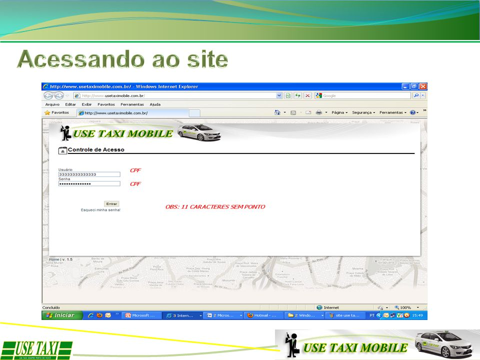 Acessando ao site