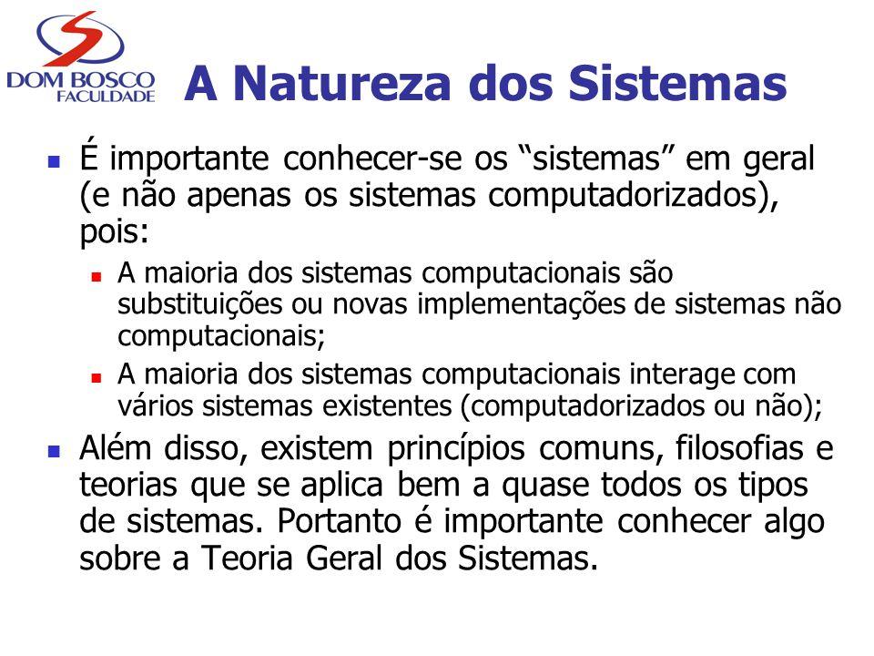 A Natureza dos Sistemas