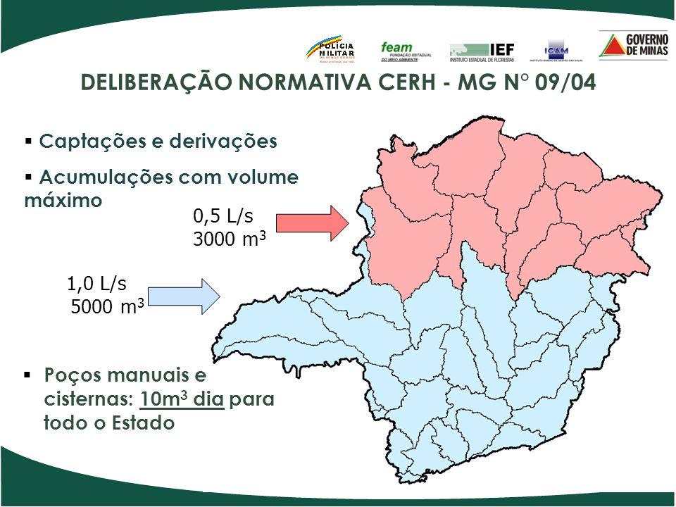 DELIBERAÇÃO NORMATIVA CERH - MG N° 09/04