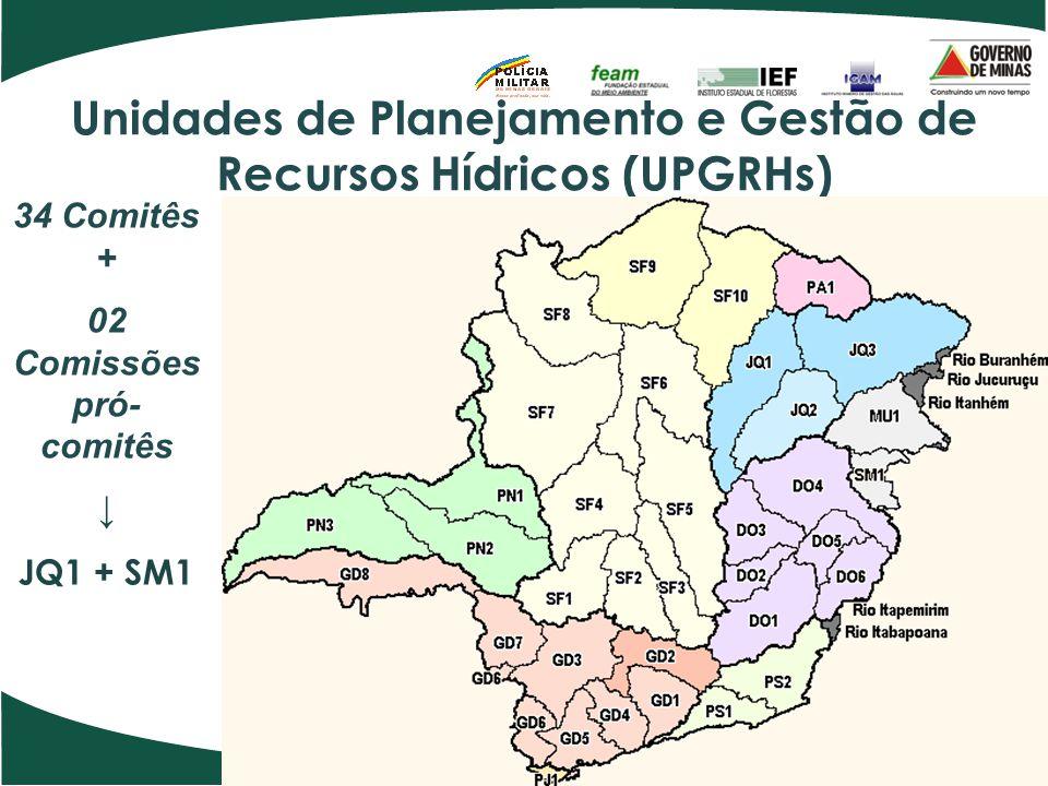 Unidades de Planejamento e Gestão de Recursos Hídricos (UPGRHs)