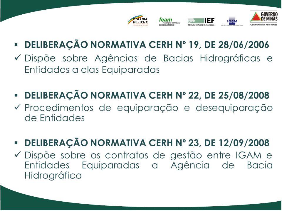 DELIBERAÇÃO NORMATIVA CERH Nº 19, DE 28/06/2006