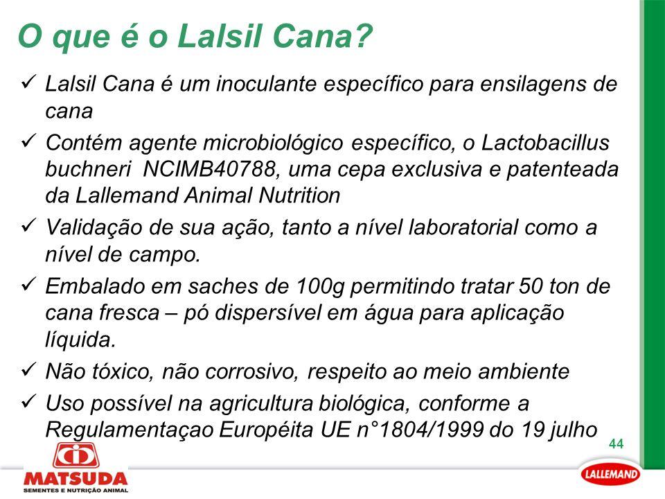O que é o Lalsil Cana Lalsil Cana é um inoculante específico para ensilagens de cana.