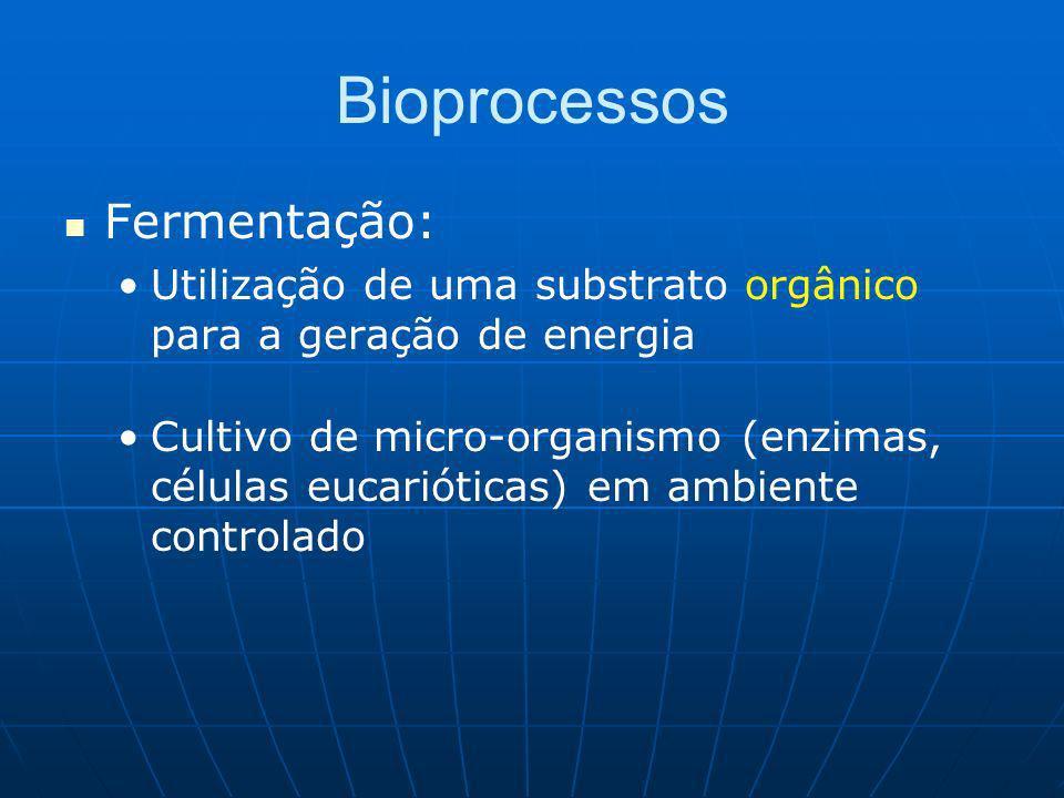 Bioprocessos Fermentação: