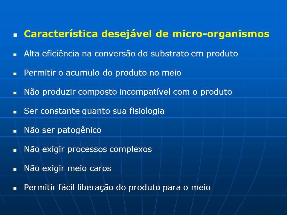 Característica desejável de micro-organismos