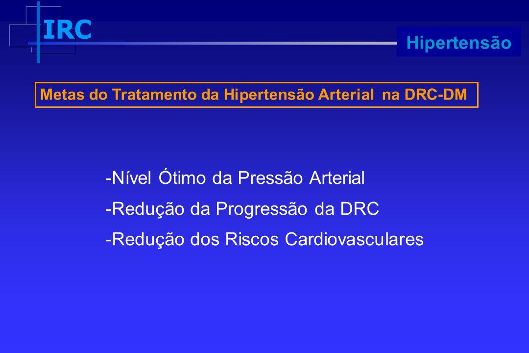 Nível Ótimo da Pressão Arterial Redução da Progressão da DRC