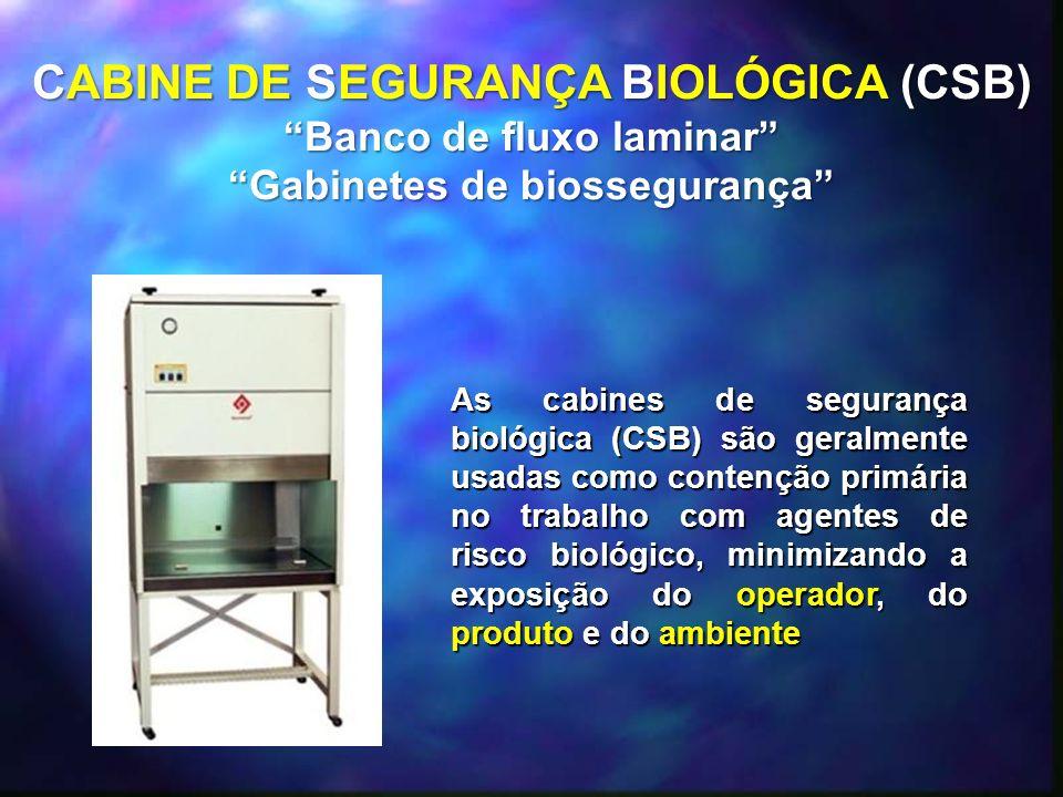 CABINE DE SEGURANÇA BIOLÓGICA (CSB)